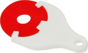 Einkaufswagen-Chip-Halterung DROP als Werbeartikel mit Logo im PRESIT Online-Shop bedrucken lassen