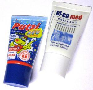 Zahncreme für Kinder oder Erwachsene als Werbeartikel mit Logo im PRESIT Online-Shop bedrucken lassen