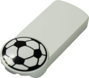 Flaschenöffner mit Fußball Emblem FOOTBALL als Werbeartikel mit Logo im PRESIT Online-Shop bedrucken lassen