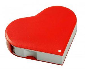 Klebeband-Abroller in Herzform HERZ als Werbeartikel mit Logo im PRESIT Online-Shop bedrucken lassen