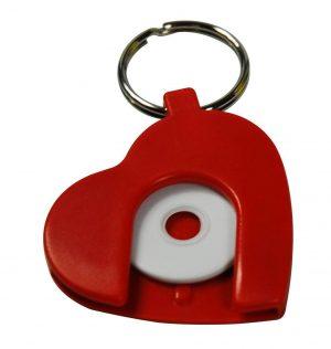 Schlüsselanhänger in Herzform HERZ als Werbeartikel mit Logo im PRESIT Online-Shop bedrucken lassen