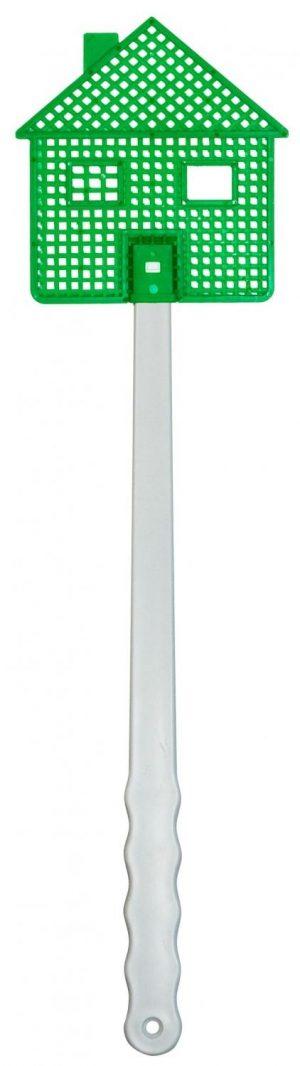 Fliegenklatsche in Hausform DIY als Werbeartikel mit Logo im PRESIT Online-Shop bedrucken lassen