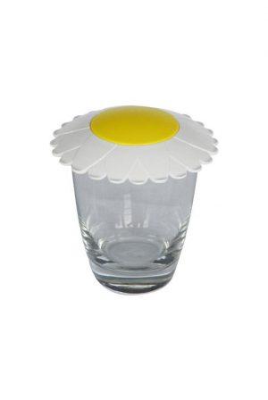 Glasabdeckung in Sonnenblumenform SUNFLOWER als Werbeartikel mit Logo im PRESIT Online-Shop bedrucken lassen