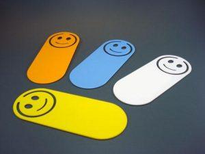 Lesezeichen Notizklammer MR SMILE als Werbeartikel mit Logo im PRESIT Online-Shop bedrucken lassen