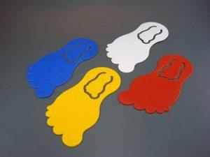 Lesezeichen Notizklammer LEISE SOHLE als Werbeartikel mit Logo im PRESIT Online-Shop bedrucken lassen