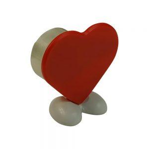 Klebestreifenspender in Herzform HEART ON TOUR als Werbeartikel mit Logo im PRESIT Online-Shop bedrucken lassen