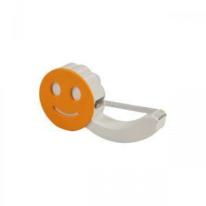Klebebandabroller mit Smiley GRINSEBACKE als Werbeartikel mit Logo im PRESIT Online-Shop bedrucken lassen