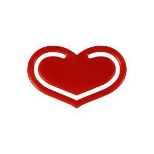 Lesezeichen Notizklammer Herz mich als Werbeartikel mit Logo im PRESIT Online-Shop bedrucken lassen