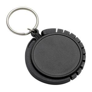 Schlüsselanhänger mit Taschenhaken REFLECTS-GRAZ BLACK als Werbeartikel mit Logo im PRESIT Online-Shop bedrucken lassen