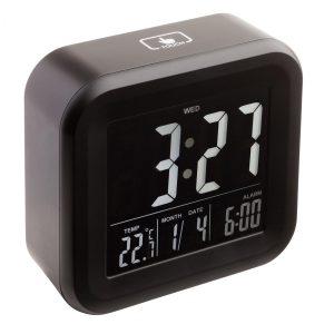 Alarmuhr mit Thermometer REEVES-ANTIBES als Werbeartikel mit Logo im PRESIT Online-Shop bedrucken lassen