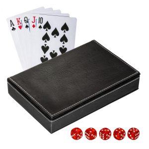 Spielkarten Set mit Box REFLECTS-SALAMINA BLACK als Werbeartikel mit Logo im PRESIT Online-Shop bedrucken lassen