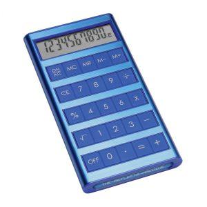 Solartaschenrechner REEVES-MACHINE BLUE als Werbeartikel mit Logo im PRESIT Online-Shop bedrucken lassen