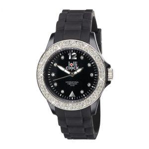 Armbanduhr LOLLICLOCK-CRYSTAL BLACK als Werbeartikel mit Logo im PRESIT Online-Shop bedrucken lassen