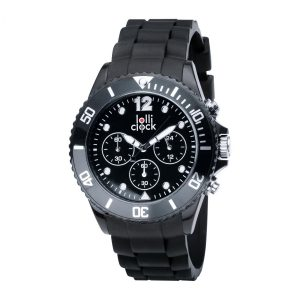 Armbanduhr LOLLICLOCK-CHRONO BLACK als Werbeartikel mit Logo im PRESIT Online-Shop bedrucken lassen