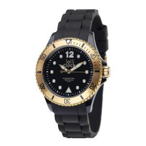 Armbanduhr LOLLICLOCK- BLACK GOLD als Werbeartikel mit Logo im PRESIT Online-Shop bedrucken lassen