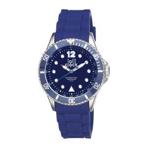 Armbanduhr LOLLICLOCK-CHROME BLUE als Werbeartikel mit Logo im PRESIT Online-Shop bedrucken lassen