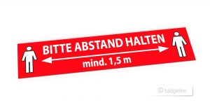 Bodenaufkleber lang – Werbeartikel im PRESIT Online-Shop mit Logo bedrucken lassen