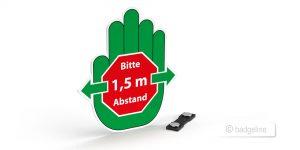 Magnet-Ansteckschild Economy Motiv A – Werbeartikel im PRESIT Online-Shop mit Logo bedrucken lassen