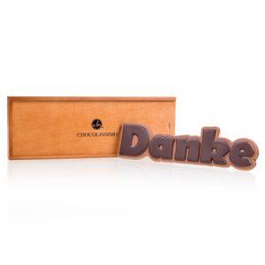 Danke Schokolade in Holzschatulle