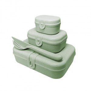 Koziol PASCAL READY Lunchbox-Set + Besteck-Set als Werbeartikel mit Logo im PRESIT Online-Shop bedrucken lassen