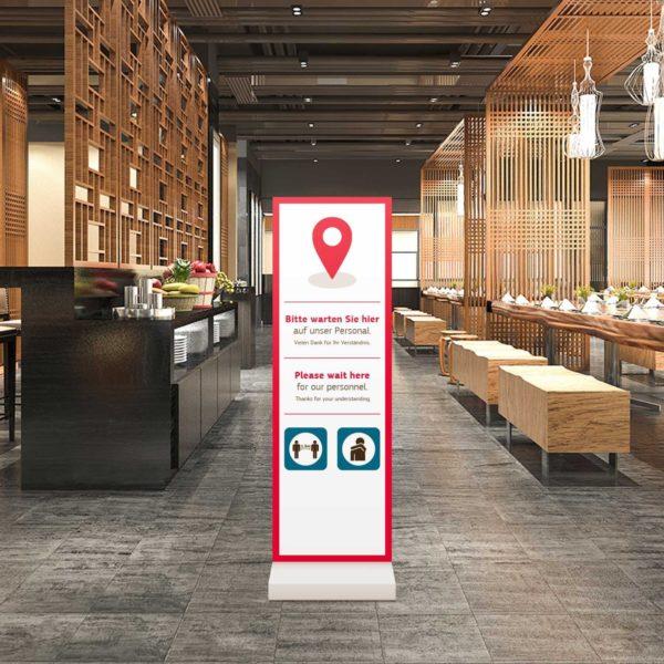 Aufsteller InfoStele – Werbeartikel im PRESIT Online-Shop mit Logo bedrucken lassen