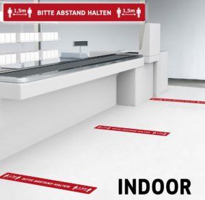 Fußbodenaufkleber mit Hygienehinweis – Werbeartikel im PRESIT Online-Shop mit Logo bedrucken lassen