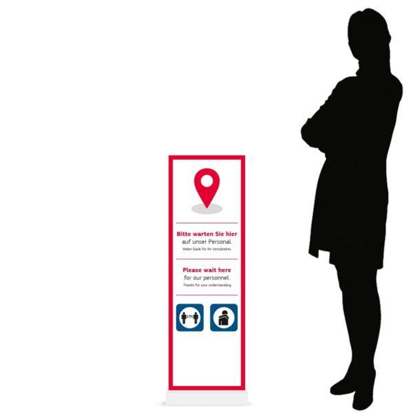 InfoStele Aufsteller – Werbeartikel im PRESIT Online-Shop mit Logo bedrucken lassen