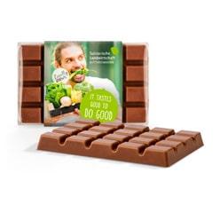 Schokolade als Werbeartikel bedrucken