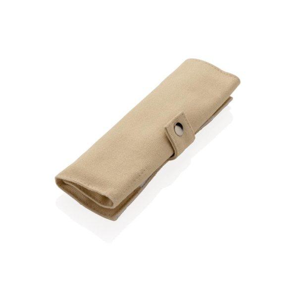 Bambus Reisebesteck Tasche – Werbeartikel im PRESIT Online-Shop mit Logo bedrucken lassen