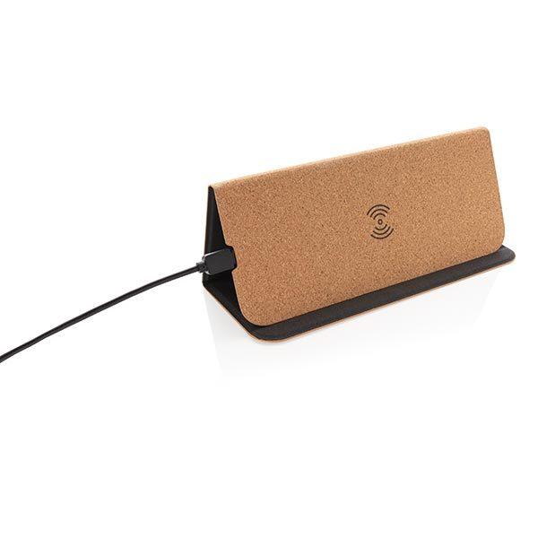 Faltbarer Wireless Charger gefaltet – Werbeartikel im PRESIT Online-Shop mit Logo bedrucken lassen