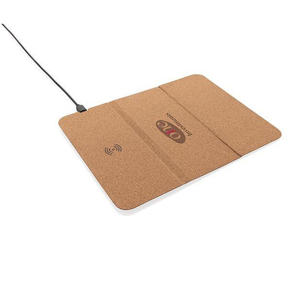 Faltbarer Wireless Charger offen – Werbeartikel im PRESIT Online-Shop mit Logo bedrucken lassen