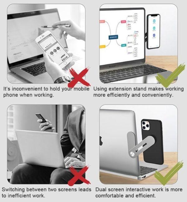 Telefonhalter Laptop Extension – Werbeartikel im PRESIT Online-Shop bedrucken lassen