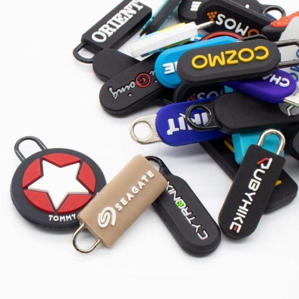 Ladekabel Zipper Anhänger Werbeartikel