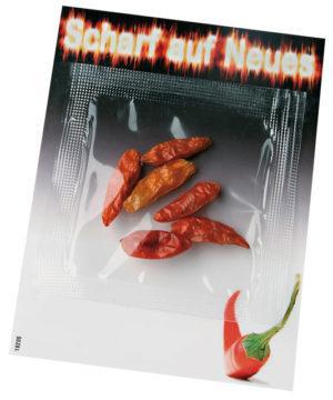 Chili Kärtchen  als Werbeartikel mit Logo im PRESIT Online-Shop bedrucken lassen