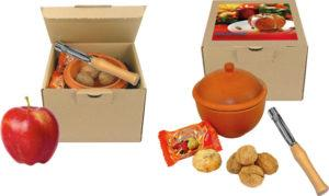 Bratapfel-Set als Werbeartikel mit Logo im PRESIT Online-Shop bedrucken lassen