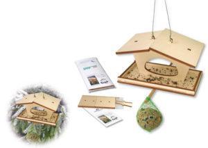 Bastel-Futterhäuschen als Werbeartikel mit Logo im PRESIT Online-Shop bedrucken lassen