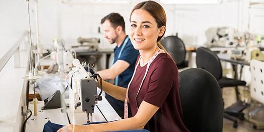 Textilienveredelung im Textilien Fullservice