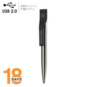 Detailansicht  – BND52 2in1 Metall-Kugelschreiber & USB2.0-Speicher *LAGERWARE*