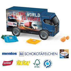 LKW Präsent Käse Chips als Werbeartikel mit Logo im PRESIT Online-Shop bedrucken lassen