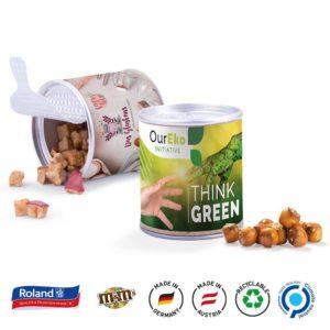 Papierdose Fresh Mini Apfel Cubes als Werbeartikel mit Logo im PRESIT Online-Shop bedrucken lassen