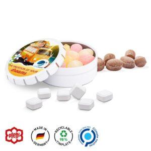 Quick Box XS Micro Bonbons 12 Kräuter als Werbeartikel mit Logo im PRESIT Online-Shop bedrucken lassen