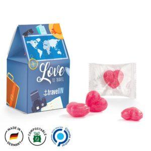 Standbodenbox Kirschherzen als Werbeartikel mit Logo im PRESIT Online-Shop bedrucken lassen
