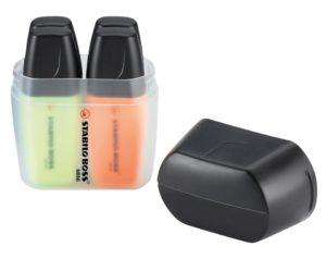 STABILO BOSS MINI 4er Box als Werbeartikel mit Logo im PRESIT Online-Shop bedrucken lassen