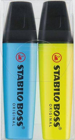 STABILO BOSS ORIGINAL 2er-Set als Werbeartikel mit Logo im PRESIT Online-Shop bedrucken lassen