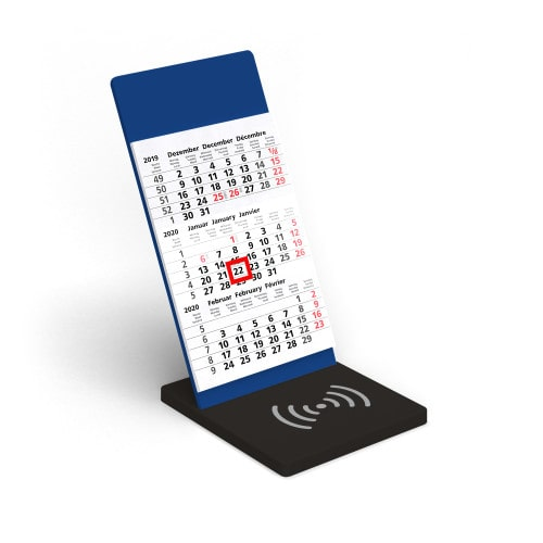Wireless Charging Kalender VYNN® Blau – Werbeartikel im PRESIT Online-Shop bedrucken lassen