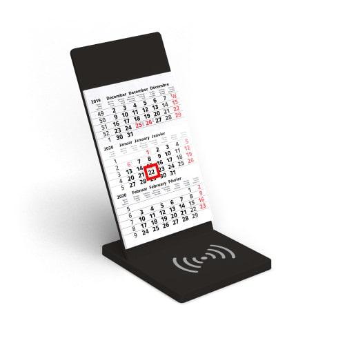 Wireless Charging Kalender VYNN® Schwarz – Werbeartikel im PRESIT Online-Shop bedrucken lassen