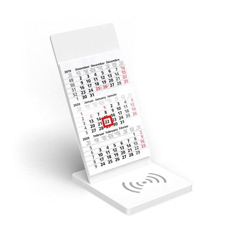 Wireless Charging Kalender VYNN® Weiß – Werbeartikel im PRESIT Online-Shop bedrucken lassen