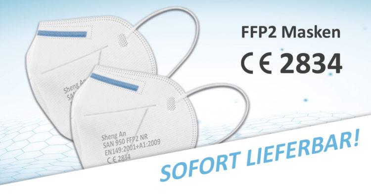 Header FFP2 Maske CE zertifiziert Werbemittel