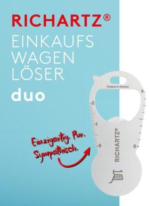 RICHARTZ EINKAUFSWAGENLÖSER duo als Werbeartikel mit Logo im PRESIT Online-Shop bedrucken lassen