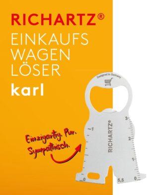 RICHARTZ EINKAUFSWAGENLÖSER karl als Werbeartikel mit Logo im PRESIT Online-Shop bedrucken lassen